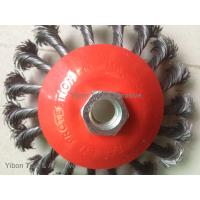 Buy cheap 4.5inch twisted knot wire bevel brush with threaded arbor product