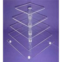 Buy cheap 5-Tier Acrylic Bakery Display Case , Cupcake Food Display Stand Rack from wholesalers