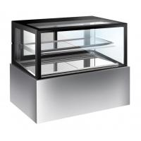 Buy cheap 320L Glass Cake Display Unit , Chiller Display Fridge With Movable Shelf with 1200mm Length product