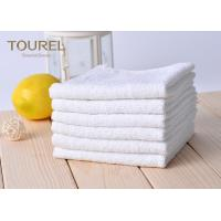 Buy cheap White Cotton Washcloths 100% Long Stapled Luxury Face Flannels from wholesalers