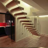 Buy cheap Prefabricated Indoor Staircase Wooden Floating Indoor wooden stairs from wholesalers
