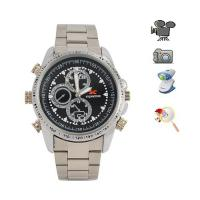 Buy cheap 3ATM Waterproof metallic plate IR Night Vision Spy Camera Watch Voice Activated W8000 from wholesalers