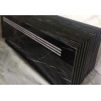Buy cheap China Nero Marquina Marble stair step stone stair Nero Marquina marble stairs black marble risers from wholesalers