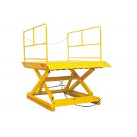 Buy cheap Hydraulic Stationary Scissor Lift Platforms 1.7 Meter Lifting Height With Double Pump from wholesalers