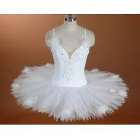 Buy cheap Swan lake dance costumes child and adult bitter fleabane ballet tutu dress white condole belt performance dance clothing from wholesalers
