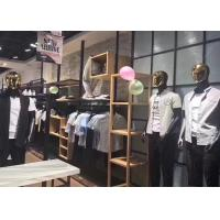 Buy cheap Metal And Wooden MDF Retail Clothing Store Racks And Shelves Customized Size from wholesalers