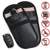 Buy cheap Car Key Signal Blocker Case, Key less Entry Fob Guard Signal Blocking Pouch Bag, Healthy cell Phone Privacy Protection from wholesalers