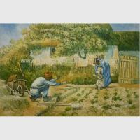 Buy cheap Post impressionism Vincent Van Gogh Oil Paintings Father Daughter Replicated on Canvas from wholesalers