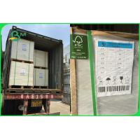 Buy cheap FSC SBS FBB Cardboard Paper Roll 350 - 400gsm 90 X 110cm For Invisible Sock Packaging from wholesalers