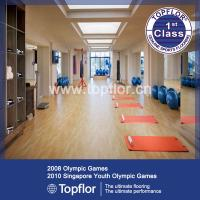 Buy cheap PVC Gym Floor Mat Fitness Carpet oak color from wholesalers