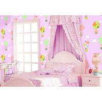 Buy cheap Chinese Factory Interior Kids Room Wallcovering Pink Blue Color Catoon Design Wallpaper from wholesalers