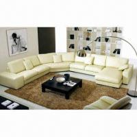 Buy cheap Sofa with 12 to 15% Humidity Control and High Density Foam, Made of PU Leather and PVC from wholesalers