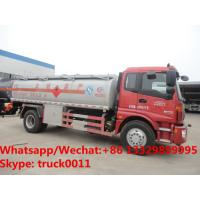 Buy cheap HOT SALE! good price Foton Auman 4*2 LHD 14m3 bulk oil delivery truck, oil bowser vehicle for sale, fuel tank truck product