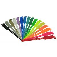 Buy cheap PMS Color Plastic ID Bands , Custom Event Wristbands For Admission Tickets from wholesalers