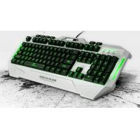 Buy cheap 110 Key Comfortable Gaming Keyboard and Mouse with 1.8m Cable Red Blue Green LED light from wholesalers