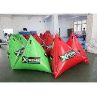 Buy cheap Green/Red Floating Inflatable Water Park Inflatable Marher Buoy from wholesalers