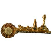 Buy cheap Lacquered Gold Color, City Key Pendant / Accessory Custom Metal Craft For Gifts from wholesalers