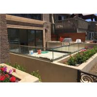 Buy cheap Durable Frameless Glass Railing Toughened Glass Balustrade With Stainless Steel Top Handrail from wholesalers