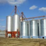 Buy cheap Wheat Storage Silos Galvanized Steel Grain Feed Bin Flat Bottom 3.5mm Steel Thick from wholesalers