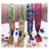 Buy cheap New customed print logo promotional polyester fabric woven sports bracelet gifts outdoor product