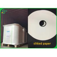 Buy cheap 60g 15mm Disposable Slitted Paper Roll For Food Safe Printable Paper Straws from wholesalers