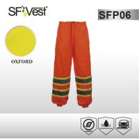 Buy cheap 100% polyester cargo reflective Pants hi vis apparel with snaps closure , 10cm contrasting tape product