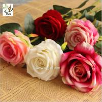 Buy cheap UVG FRS68 Planning a wedding in beautiful velvet rose artificial flower arrangements for table decoration from wholesalers