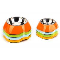 Buy cheap Two Size Multi Color Cool Pet Bowls , A5 Melamine With Anti Slip Pet Dishes Bowls product