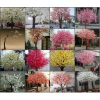 Buy cheap high simulation large outdoor ornamental flowering plants artificial pink blossom tree from wholesalers