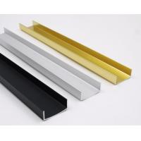 Buy cheap OEM Customized U Shaped Channel Standard Aluminum Profiles Normal Length 6m product