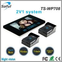 Buy cheap 7 inch monitor the night vision door bells ring video intercom wireless from wholesalers