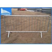 Buy cheap Metal Temporary Traffic Barriers , Pedestrian Barrier Hire For Concert from wholesalers