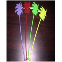 Buy cheap 35mm Yellow Disposable Cutlery Set / Coconut Tree Shape Stirrers from wholesalers