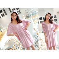 Buy cheap Breathable Sleep Lounge Nightwear Cotton Pajamas Pink Color Quick Dry product