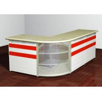 Buy cheap L - Shaped Front Desk Retail Checkout Counter Middle Size For Shopping Mall from wholesalers