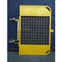 Buy cheap Yellow Powder Coated Scaffold Ladder Access Gates Adjustable For Mezzanines from wholesalers
