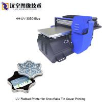 Buy cheap UV Flatbed Printer for Snowflake Tin Cover Printing from wholesalers