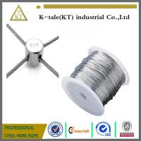 China Stainless Steel Wire rope For Stainless steel wire rope cross clamp on sale