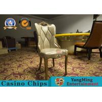 Buy cheap Korean Restaurant Solid Wood Chair Living Room Simple PU Leather Chair Solid Wood Frame Korean Casino Hotel from wholesalers