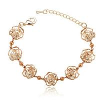 Buy cheap Yiwu Small Jewelries Wholesale Exquisite Hollow Crystal Camellia Bracelet BBR4348 from wholesalers