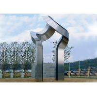 Buy cheap Large Art Modern Stainless Steel Sculpture , Outdoor Steel Sculpture Decoration product