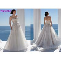 Buy cheap Beaded Lace and Tulle Strapless Sweetheart Chapel Length Bridal Ball Gowns product