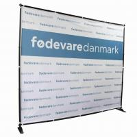 Buy cheap 10' W X 8' H Step Repeat Adjustable Banner Stands Telescopic Backdrop from wholesalers