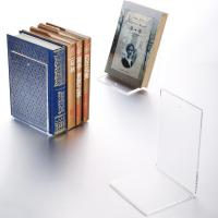 Buy cheap Transparent Bookends / Books Acrylic Stands For Display Non - Toxic Many Colors from wholesalers