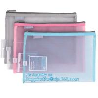 Buy cheap promotion pvc binder file A4 mesh zipper waterproof bag from professional manufacturer, A4 A5 clear nylon mesh file fold from wholesalers