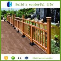 Heya wood plastic composite wpc cladding fence panels for Cheap decking boards for sale