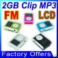 Buy cheap FM Radio, 2G 2GB Clip MP3 Player with LCD, 5 Colors from wholesalers