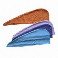 Buy cheap Fast Dry Hair Turban Towels/Hair Dryer Caps/Hair Towels, Measures 24x63cm from wholesalers