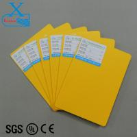 Buy cheap 3mm yellow foam board color pvc sheet wholesale flexible and waterproof color cardboard sheet pvc plastic cardboard shee from wholesalers