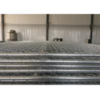 Buy cheap tubing 1¼(32mm) x 1.4mm thick temporary chain wire fence mesh spacing 2½x2½(63mmx63mm) 8ft x 12ft construction fence from wholesalers